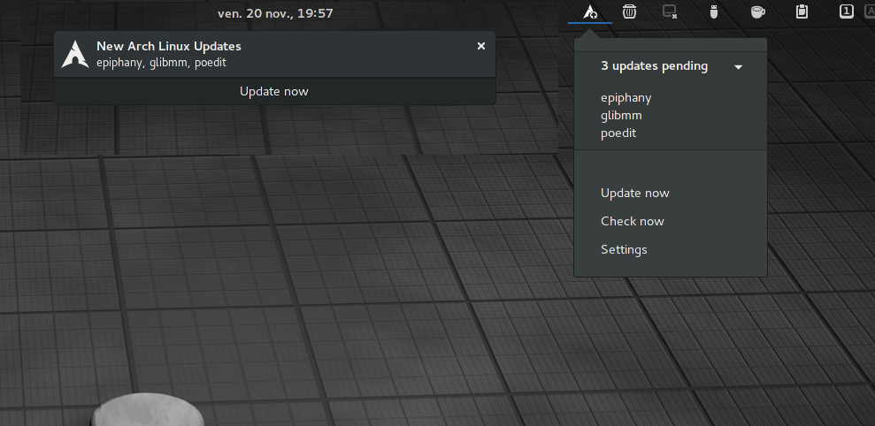 Arch Linux Updates Indicator - GNOME Shell Extensions
