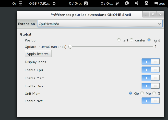 CpuMemInfo - GNOME Shell Extensions