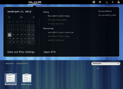 GTG integration - GNOME Shell Extensions