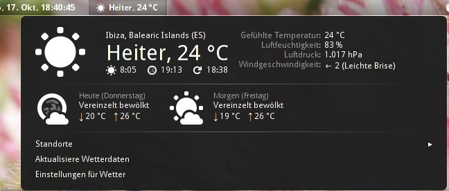 OpenWeather - GNOME Shell Extensions