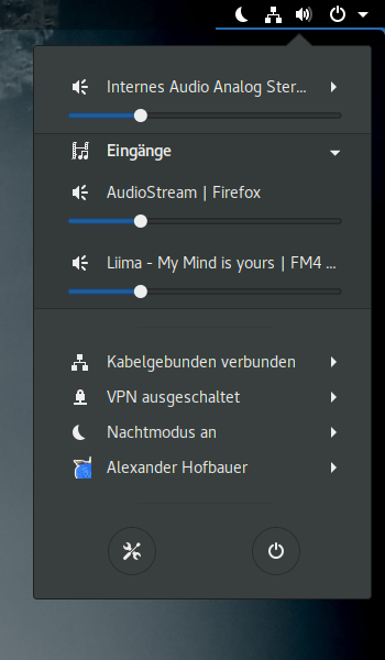 Volume Mixer - GNOME Shell Extensions